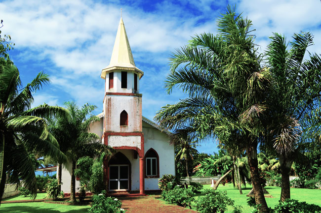 Church in Tahiti French Polynesia