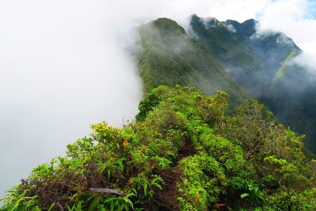 Devils Ridge Pass Mount Aorai hike Tahiti French Polynesia