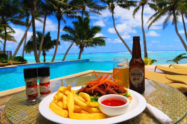 Food in Rarotonga Cook Islands little polynesian resort