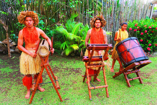 Highland Paradise traditional cook islands drums