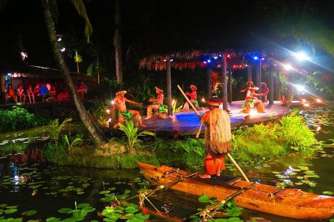 Island night te vara nui Rarotonga Cook Islands