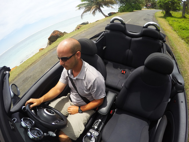 Mini Copper Driving in Rarotonga Cook Islands