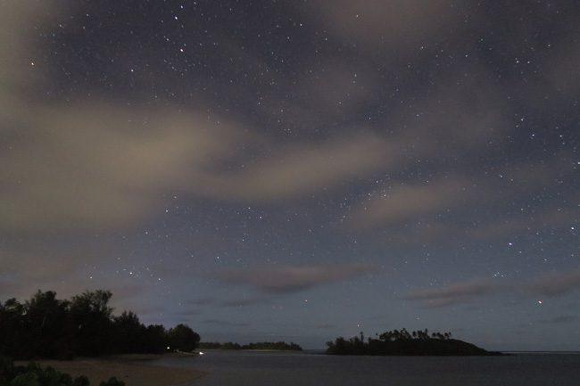 Muri Beach Cottages Rarotonga Cook Islands night stars 1