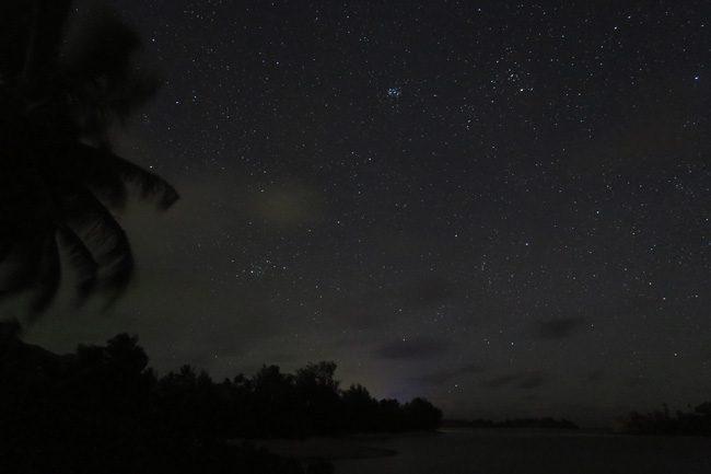 Muri Beach Cottages Rarotonga Cook Islands night stars 3