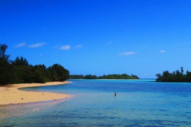 Muri Beach Cottages Rarotonga Cook Islands view of Muri Lagoon
