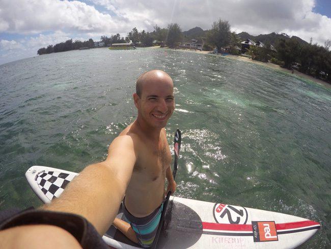 Paddling in Muri Lagoon Rarotonga Cook Islands