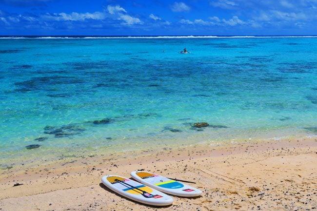 Paddling in Rarotonga Cook Islands