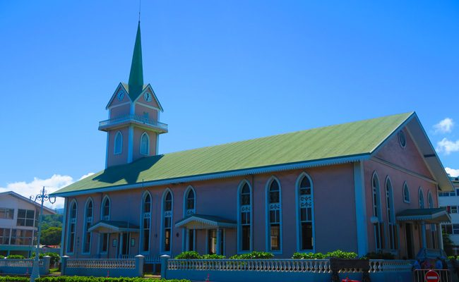 Paofai church Papeete Tahiti French Polynesia
