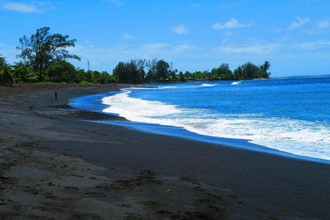 Papara black sand beach Tahiti French Polynesia