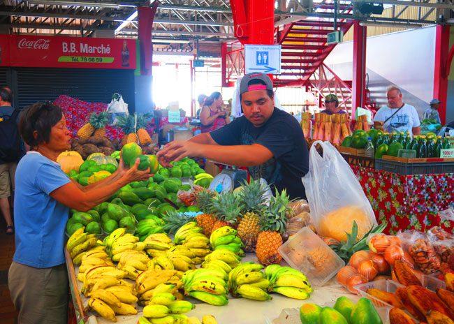 Papeet Market Tahiti French Polynesia