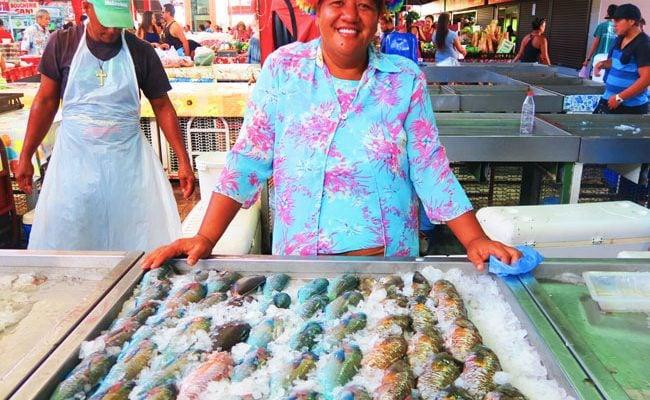 Papeete Market fish Tahiti French Polynesia