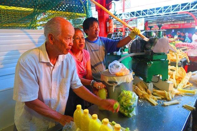 Papeete Market sugarcane juice Tahiti French Polynesia