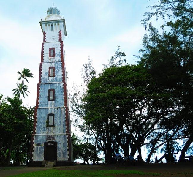 Pointe Venus lighthouse Tahiti French Polynesia
