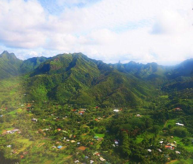 Rarotonga aerial view Cook Islands