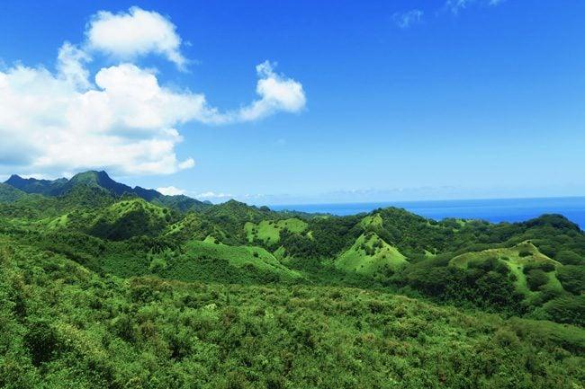 Rarotonga mountains from Mount Raemaru Cook Islands