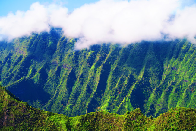 Tahiti mountains from Mount Aorai hike French Polynesia