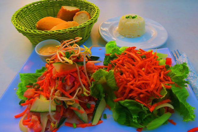 Tahitian salad Tahiti French Polynesia