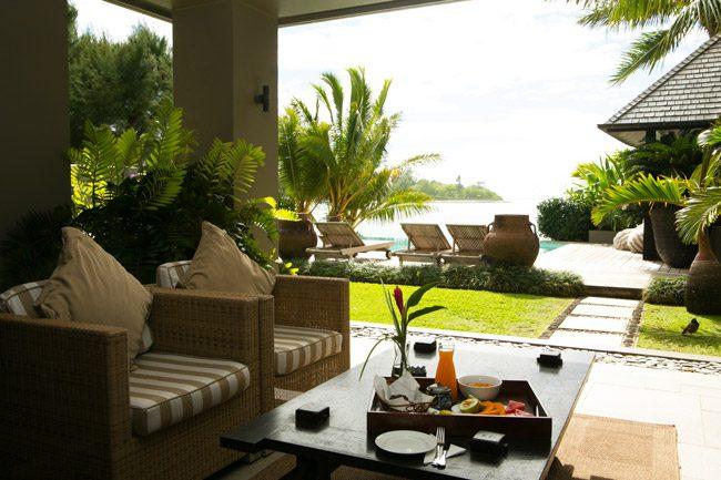 Te Vakaroa luxury Villas Rarotonga Cook Islands breakfast