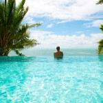 Te Vakaroa luxury Villas Rarotonga Cook Islands infinity pool