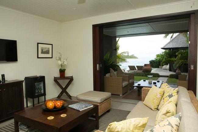 Te Vakaroa luxury Villas Rarotonga Cook Islands living room