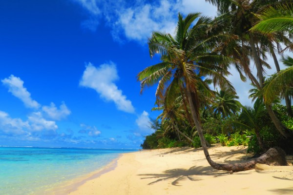 Titikaveka tropical beach Rarotonga Cook Islands