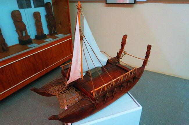 Vaka ancient outrigger canoes Rarotonga Cook Islands
