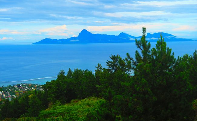 View of Moorea from Residence Aito Tahiti French Polynesia