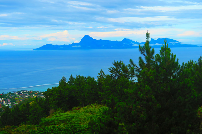 View Of Moorea From Residence Aito Tahiti French Polynesia