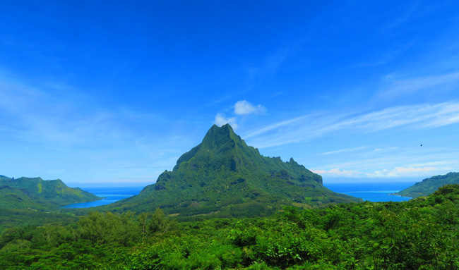 Belvedere lookout point Moorea French Polynesia
