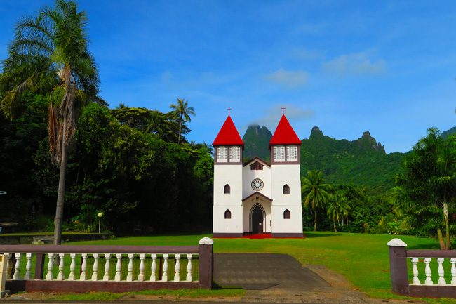 Catholic church in Haapiti Moorea French Polynesia