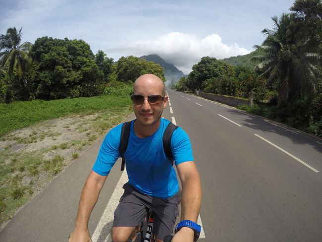Cycling in Moorea French Polynesia