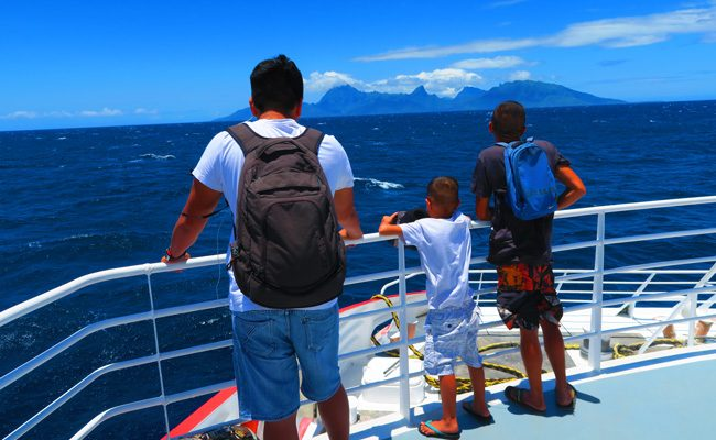 Ferry from Tahiti to Moorea French Polynesia