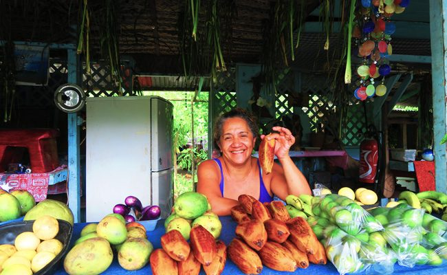 Fruits stall in Moorea French Polynesia