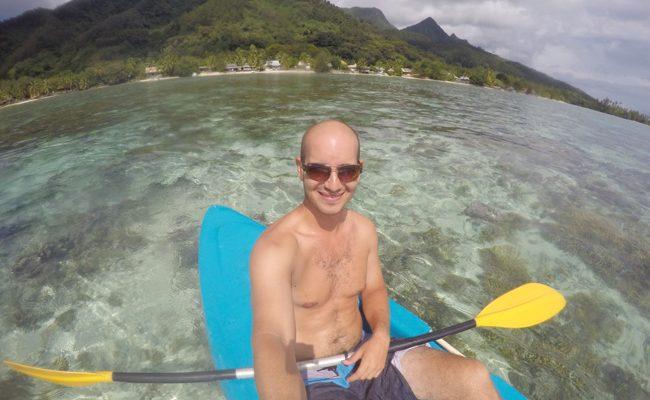 Kayaking in Moorea French Polynesia