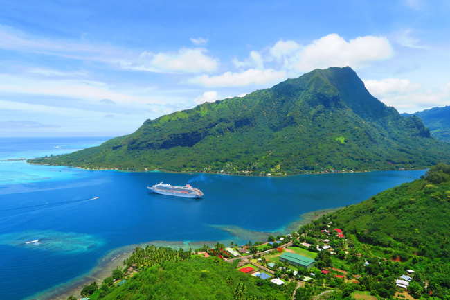Magical Mountain Moorea French Polynesia Opunohu Bay