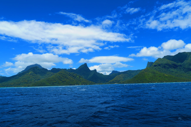 Moorea French Polynesia from tahiti ferry