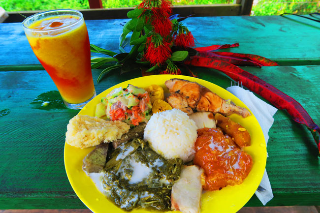 Moorea tropical garden traditional tahitian lunch