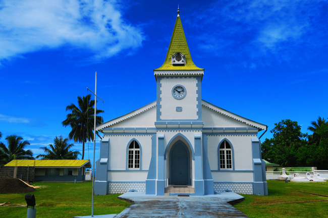 Protestant temple Moorea French Polynesia