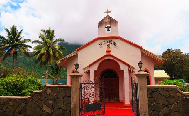 St Joseph church Moorea French Polynesia