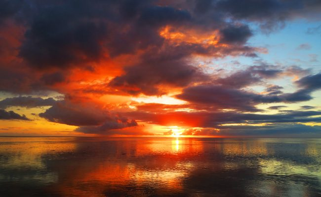 Sunset in Moorea French Polynesia 2