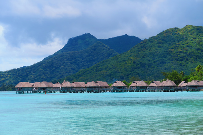 Temae beach sofitel bungalows Moorea French Polynesia