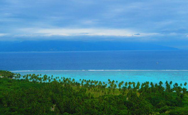 Temae hike Moorea French Polynesia beach view