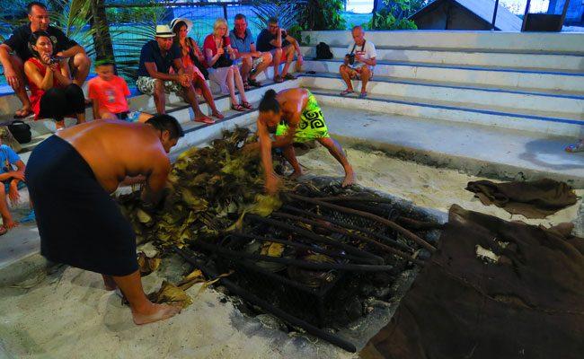 Tiki Village Moorea earth oven