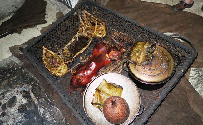 Tiki Village Moorea traditional food
