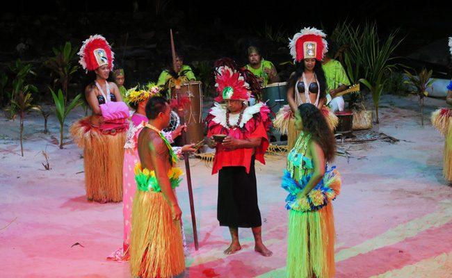 Tiki Village Moorea traditional tahitian wedding