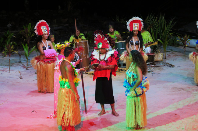 Tiki Village Moorea traditional tahitian wedding