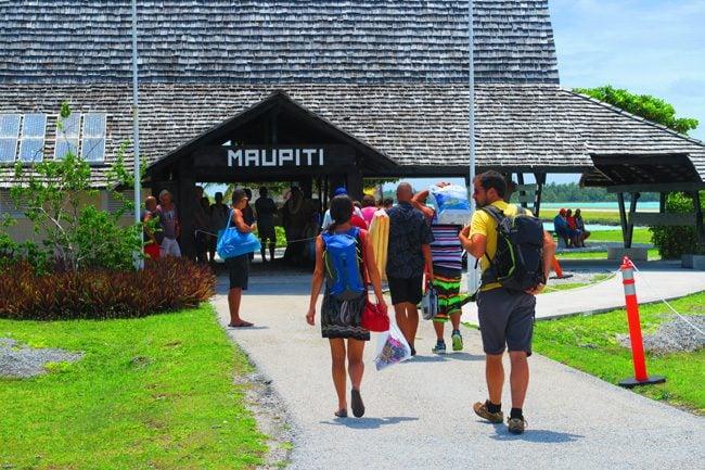 Airport Maupiti French Polynesia