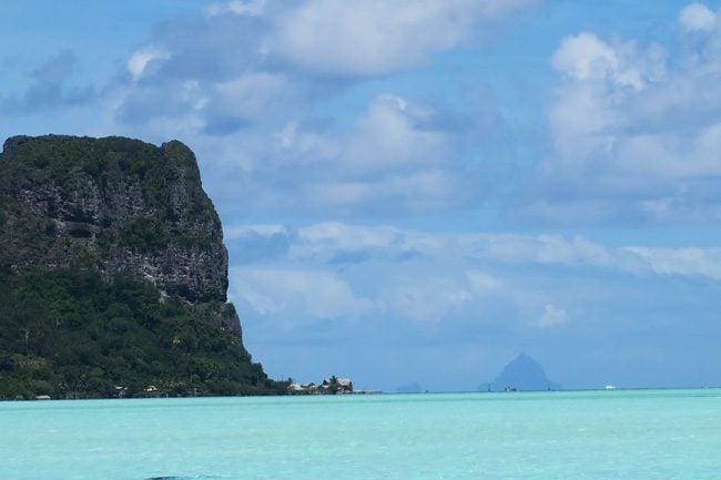 Bora Bora silouhette from Maupiti French Polynesia