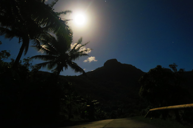 Full moon in Maupiti French Polynesia
