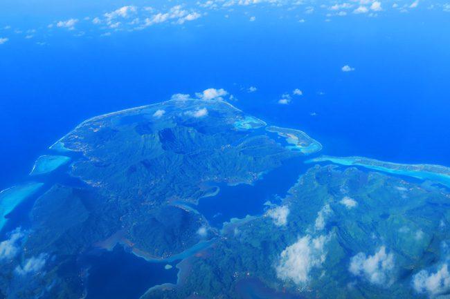 Huahine French Polynesia aerial view